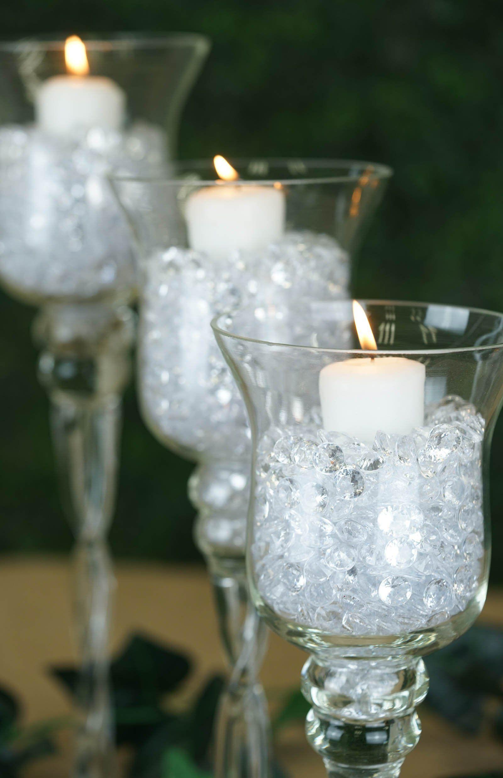 Set Of 3 Hurricane Long Stem Glass Vase Candle Holder Set 12 14 16 Hurricane Glass Centerpiece Long Stem Glass Candle Holders Holiday Table Centerpieces