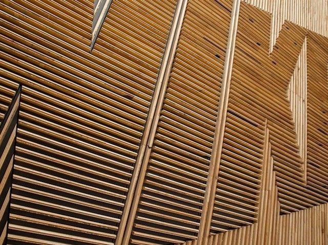 Nike Wood Feature Wall #woodfeaturewalls