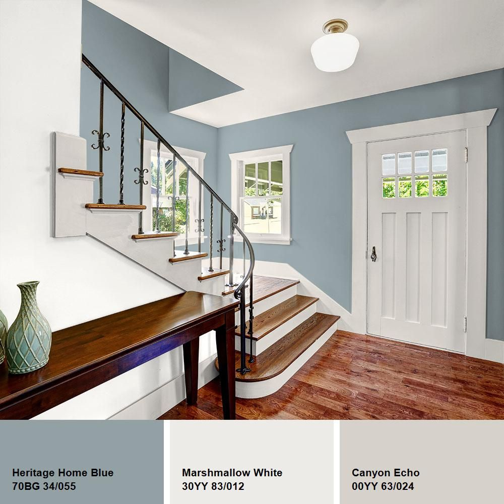 ppg diamond 1 gal hdgcn33d heritage home blue eggshell on home depot paint colors interior id=92607