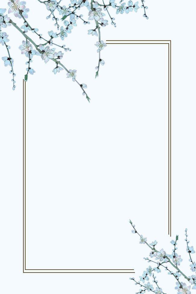Photo of Hellblaue Aquarell-handgemalte Blumen hellblauer Hintergrund