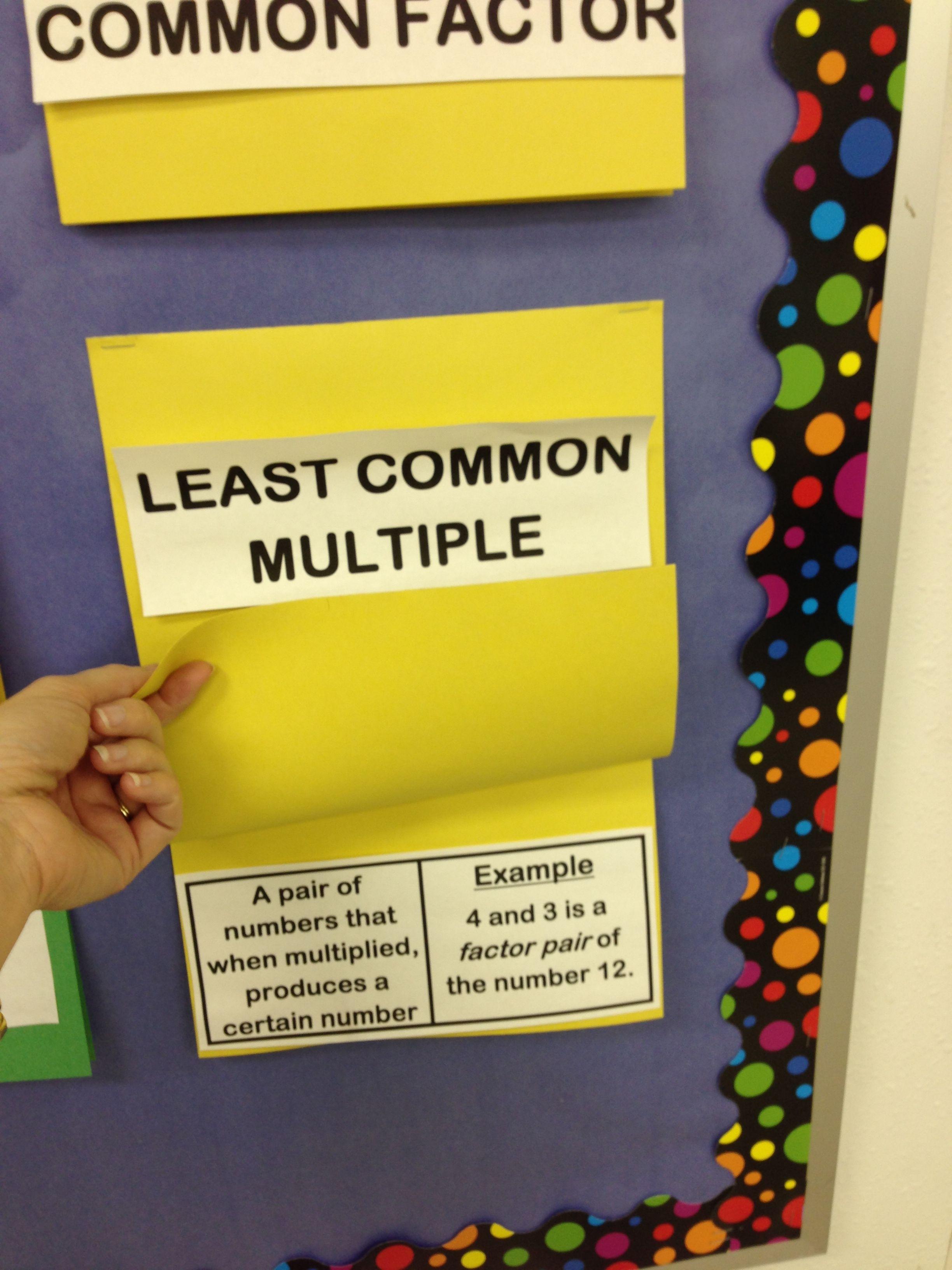 interactive math word wall … | math | Pinte…