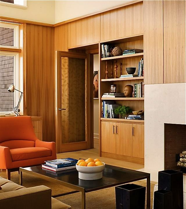 Wooden study room