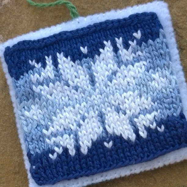#Adventcalendar day 22--a sweater snowflake  . #Advent #ornament #knitornament #knittedornament #Christmasornament #snowflake #snowflakeornament #knittedsnowflake #snowflakemotif #chartedsnowflake #embroideryfloss #knittersofinstagram by suzannthompson