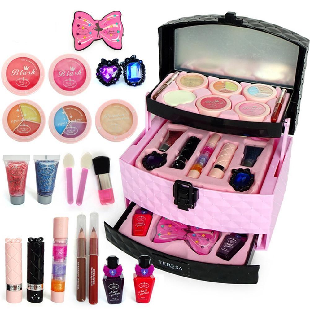 Special Offer Children Cosmetics Princess Makeup Box Set Girl Lipstick Eyeshadow Fingertips Suitca In 2020 Play Makeup Makeup Kit For Kids Makeup Toys