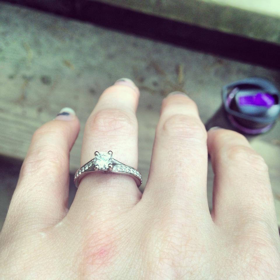 Ritani Modern Bypass Micropavé Diamond Band Engagement Ring   #ritanipinterest