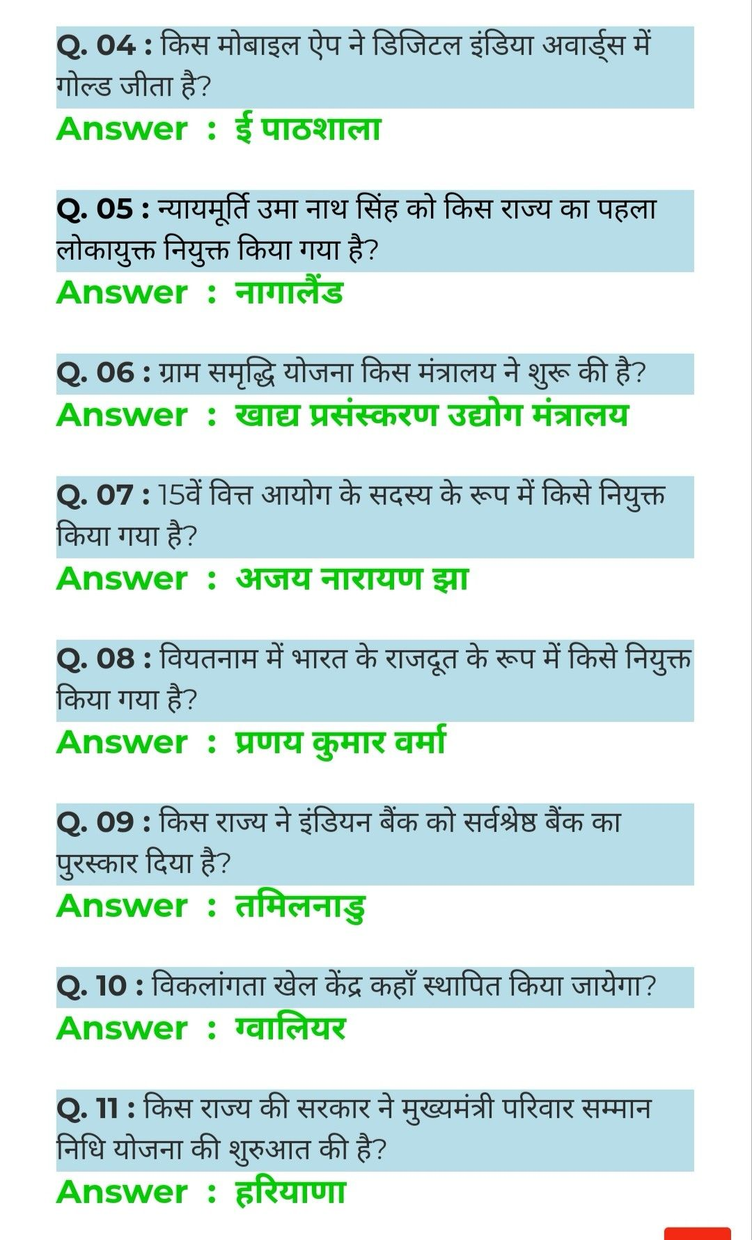 GKToday GK questions current affairs General Knowledge