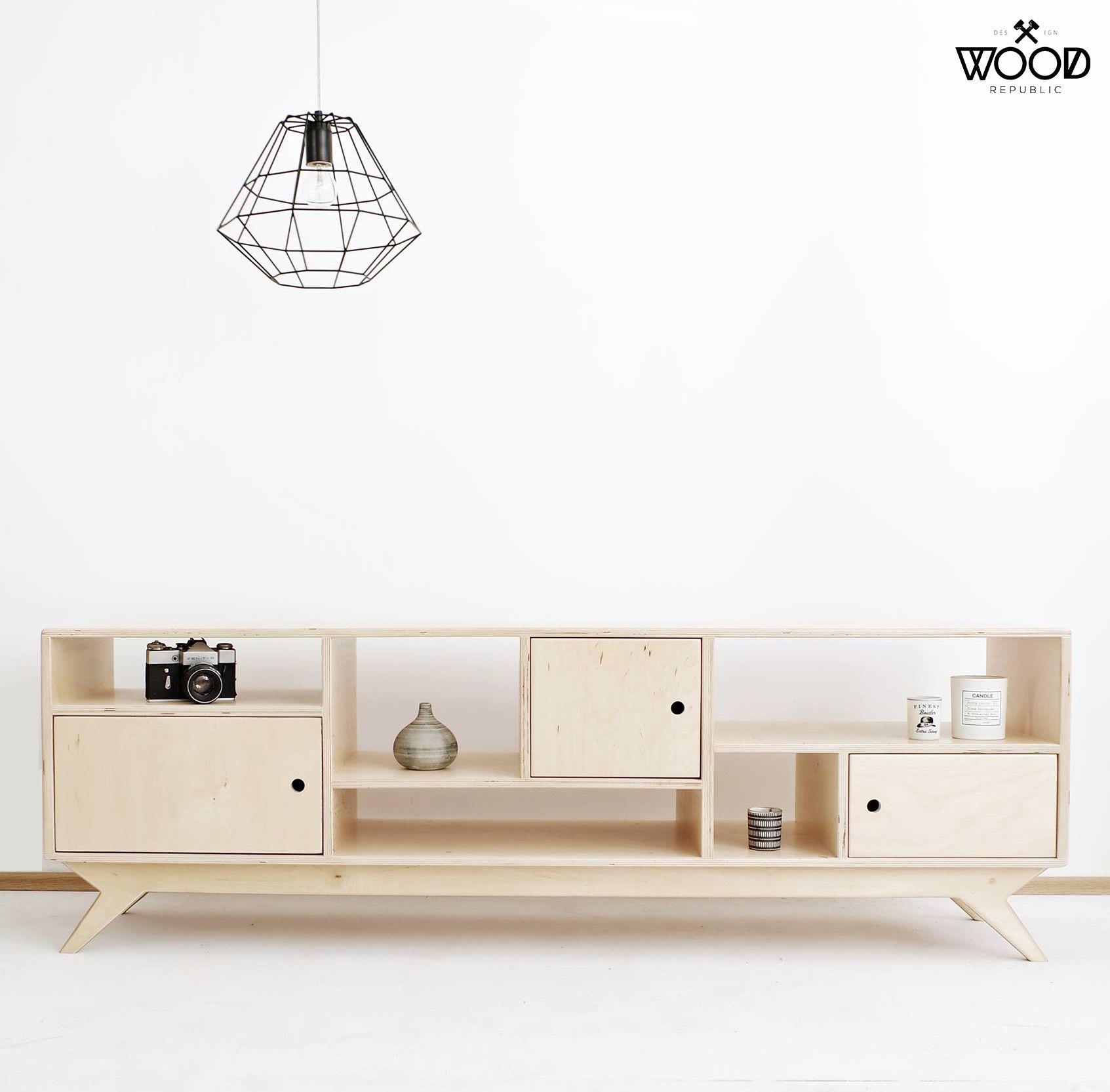 DRUPAL.2. Our Scandinavian, Plywood Tv Cabinet / Bureau
