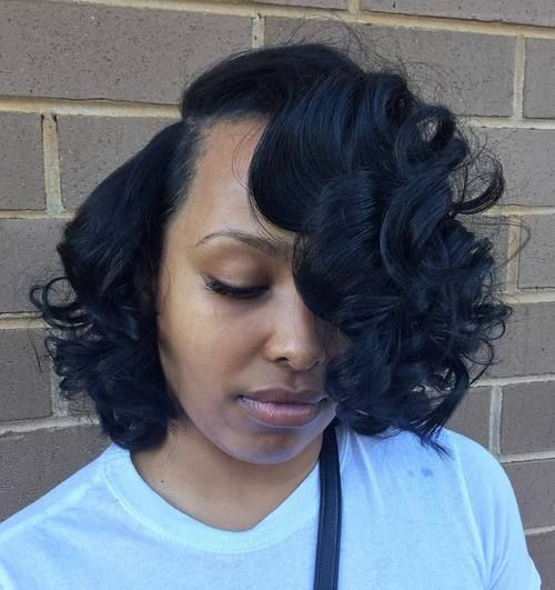 60 Showiest Bob Haircuts For Black Women African American Bobs Hairstyles Bob Hairstyles Curled Bob Hairstyle