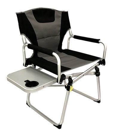 EasyGoProducts Directors Chair u2013 C&ing Chair u2013 Folding Sports Chair with Side Table and Carry Handle u2013 Black  sc 1 st  Pinterest & Look at this #zulilyfind! Directors Chair u2013 Camping Chair u2013 Folding ...