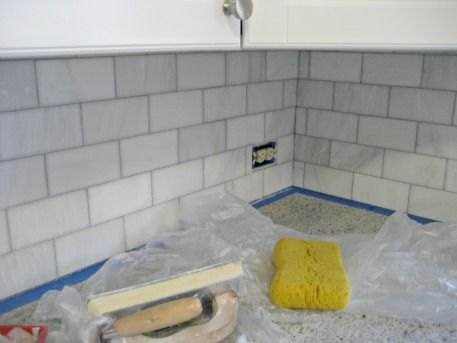 How To Grout Marble Tile Backsplash. Her Directions Make Me Think That I  Could Maybe