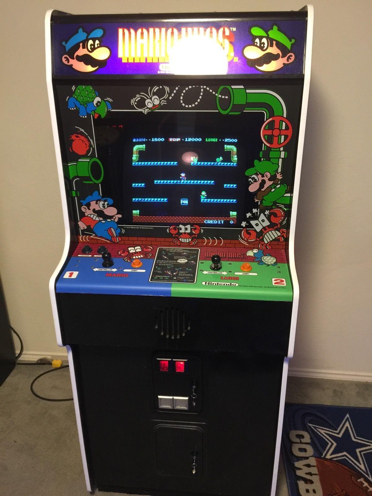 ARCADE DEDICATED Wide Cabinet Nintendo MARIO BROS, Very Clean