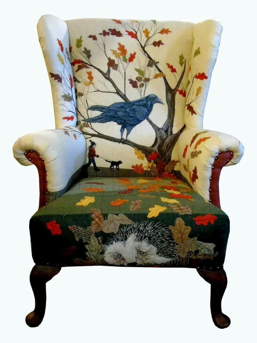 Pin By Linda Shanes On Artworks Patchwork Chair Funky Furniture Upholstered Furniture