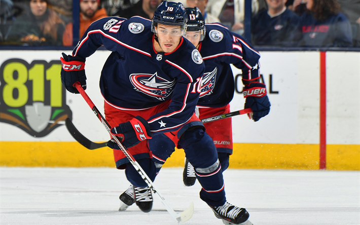 Download wallpapers Alexander Wennberg, Columbus Blue Jackets, Swedish hockey player, NHL, USA, hockey