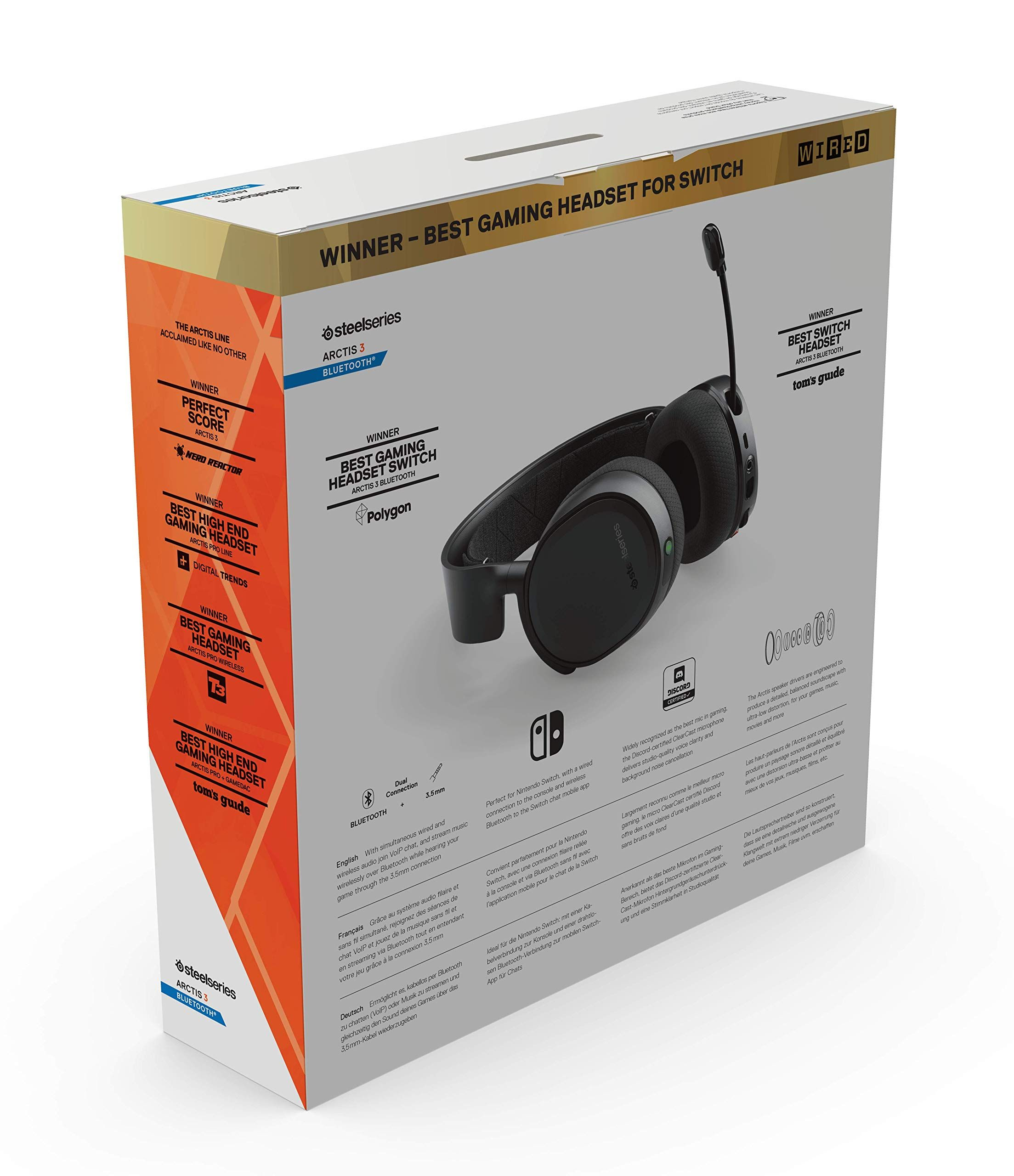 SteelSeries Arctis 3 Bluetooth (2019 Edition) Wired and