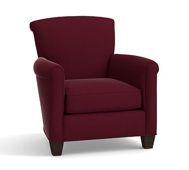 irving roll arm upholstered armchair polyester wrapped cushions rh ar pinterest com