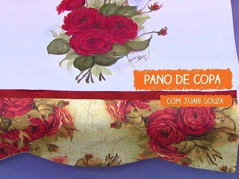 Pano de Copa Vaso com Rosas e Hortênsias - Juari Souza | Vitrine do Artesanato na TV - Gazeta - YouTube