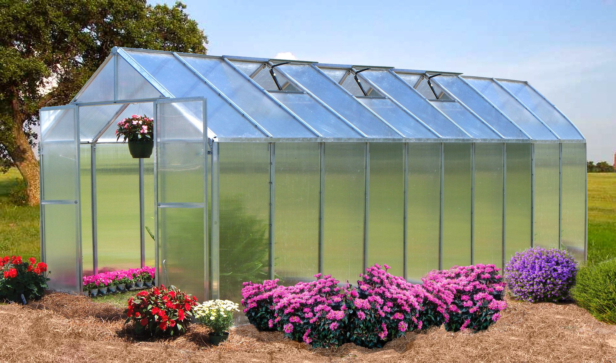Riverstone Industries Corporation Monticello 4 Ft Greenhouse Extension Wayfair Greenhouse Backyard Greenhouse Aquaponics Backyard greenhouse kits for sale