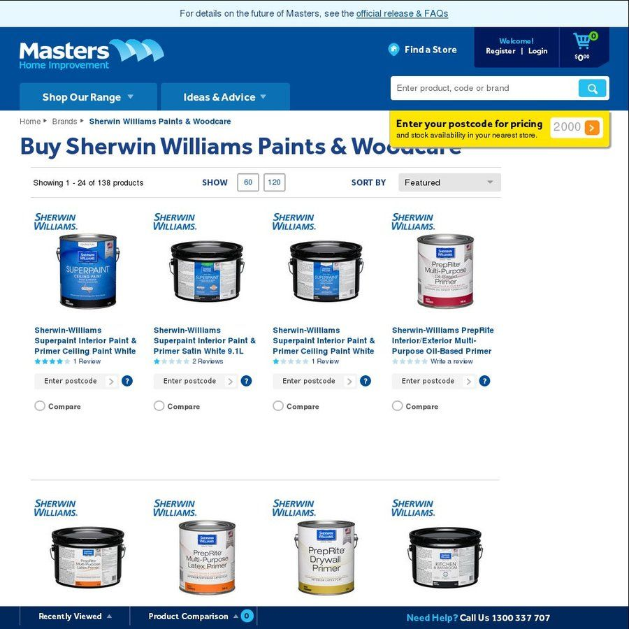 Sherwin Williams Stock Quote Masters Home Improvement  Closing Down  Fire Sale 50% Off All