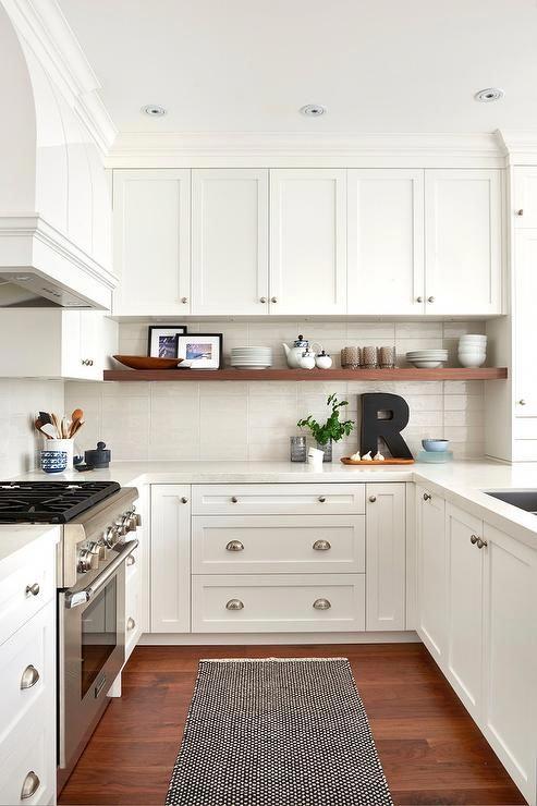 White U Shaped Kitchen Ideas