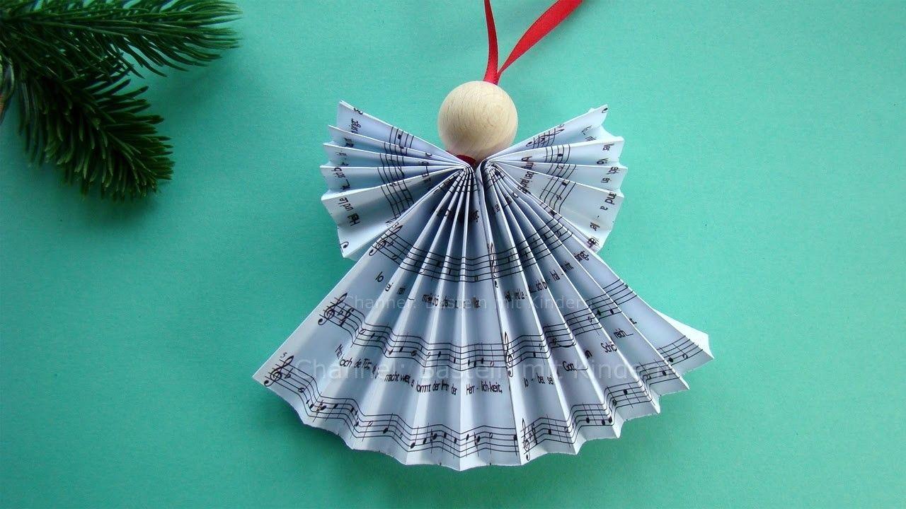 Weihnachtsengel Basteln   DIY Weihnachtsdeko   Weihnachtsbasteln   Engel  Falten Weihnachten: 2016