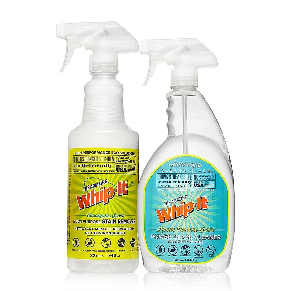 Whip It 32 Oz Glass Cleaner Stain Remover Bonus Kit Clear Glass Cleaner Stain Remover Cleaning Glass
