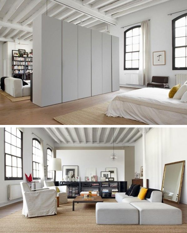 Loft space dividing wardrobe wall home other - Ideas para loft ...