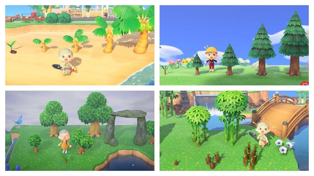 Stuntin On Ac Trees All Possible Tree Sizes For Your Tree Stunting Needs Stunt By Planting Fruit Nearby After Reaching Fruit Plants Animal Crossing Stunts