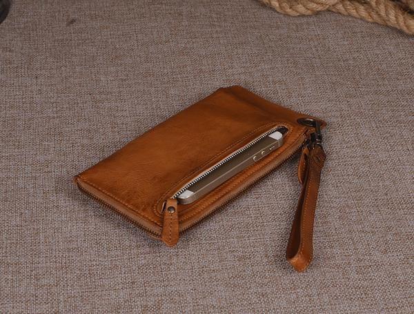 29a344dd57 Women s Long Leather Wallet Button Clutch Purse Card Holder Case 9028 -  ROCKCOWLEATHERSTUDIO