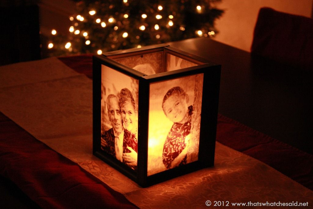 Diy picture frame luminary things to do with photos for Homemade luminaries