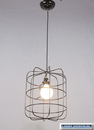 1 lt wire cage pendant ceiling light with textile cord g95 clear rh pinterest com