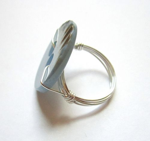 Button Wire Wrapped Ring Tutorial | DIY Jewelry | Pinterest | Ring ...