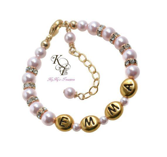 Gold baby bracelet 14k gold filled personalized bracelet little gold baby bracelet gold filled personalized bracelet little girl bracelet personalized baby gift gold jewelry little girl jewelry negle Choice Image