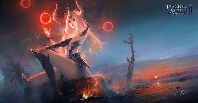 ArtStation  -  The Queen of Dragon, Wayne Chan