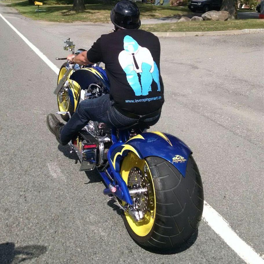 Branding Package on a motorcycle with Steve Moreau