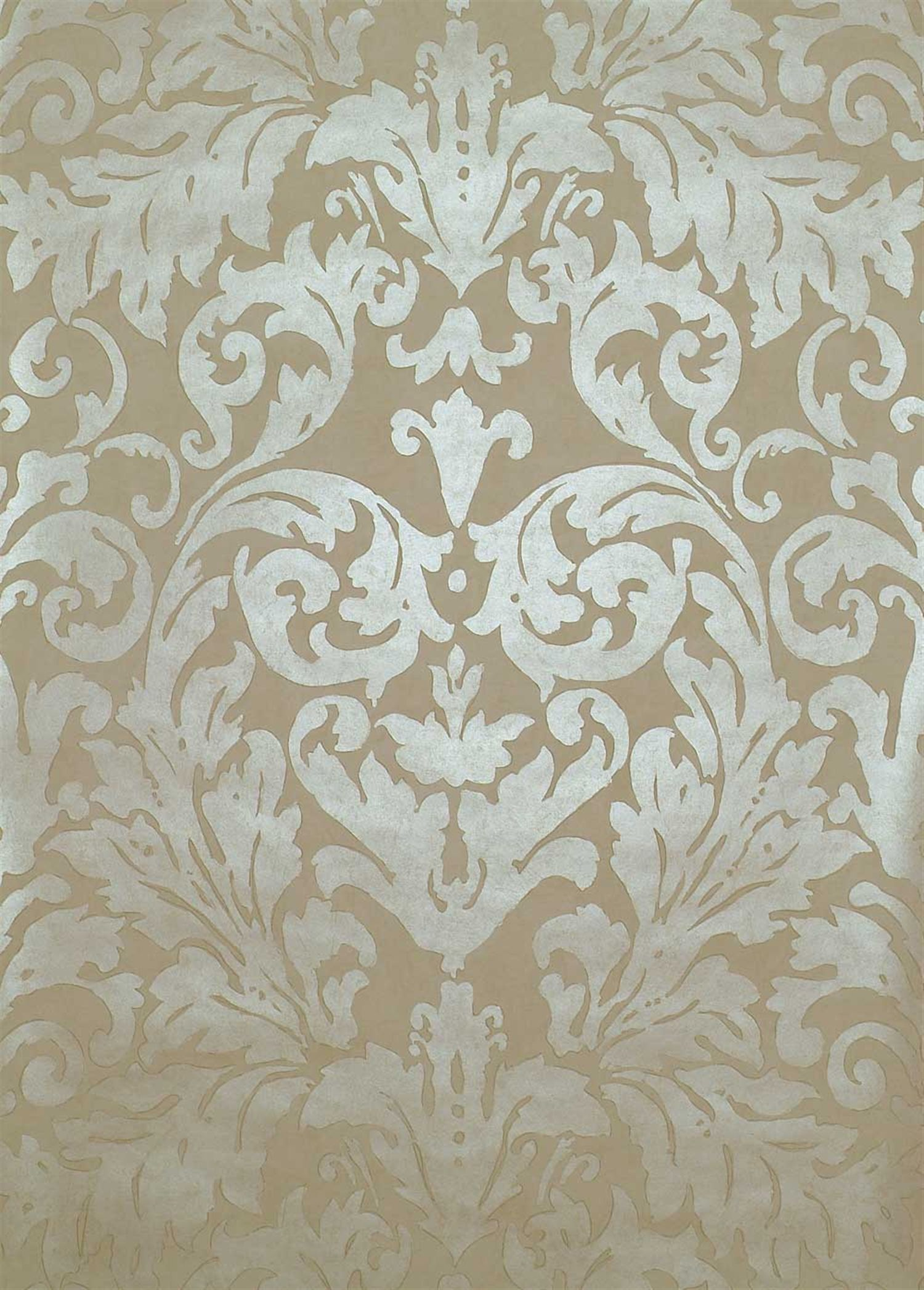 LW010 / 1 Ivory | Tivoli | Linwood Fabrics & Wallpapers