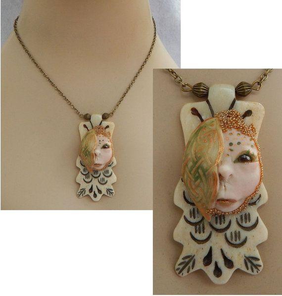 Celtic Goddess Pendant Necklace Jewelry Handmade by britpoprose99