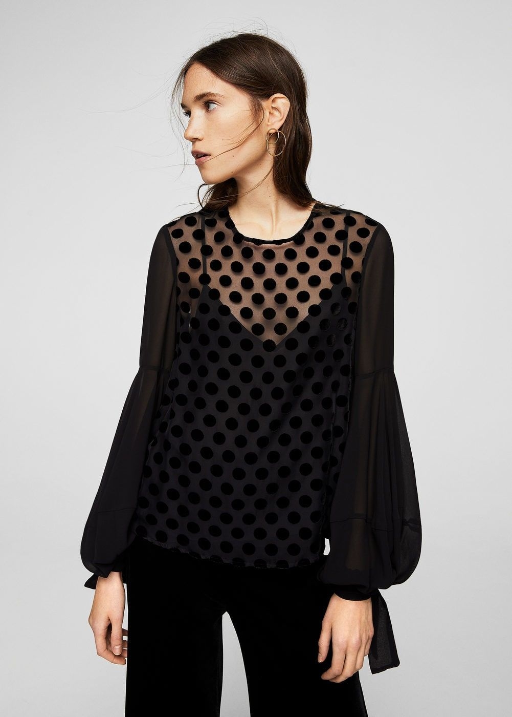 Bluzka z bufiastym rękawem - Koszule dla Kobieta  5a64bafa5ec