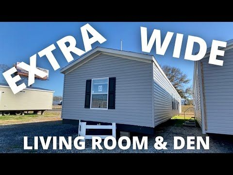 EXTRA WIDE single wide mobile home 18 ft wide with living room & den Mobile Home Tour