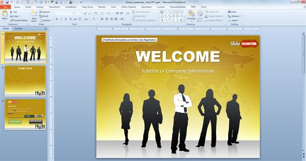 Free business ppt template with gold background design alicia free gold business powerpoint template is a free powerpoint template with gold background and businessmen in the slide design cheaphphosting Images