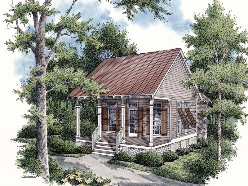 House Heronpond Rustic Country Cabin from houseplansandmorecom