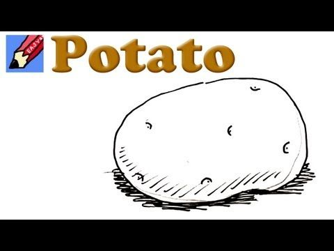 How to draw a potato Real Easy - Spoken Tutorial - YouTube
