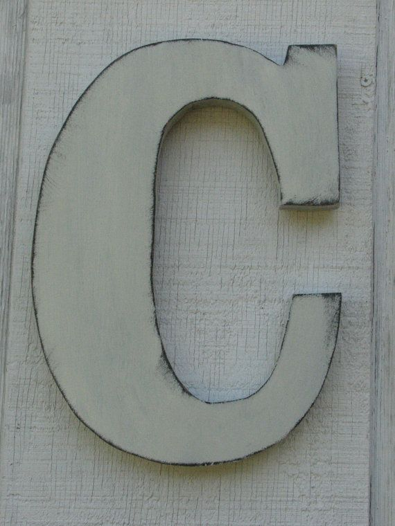 Wooden Letters Rustic Wall Hanging Initials By Borlovanwoodworks 33 00