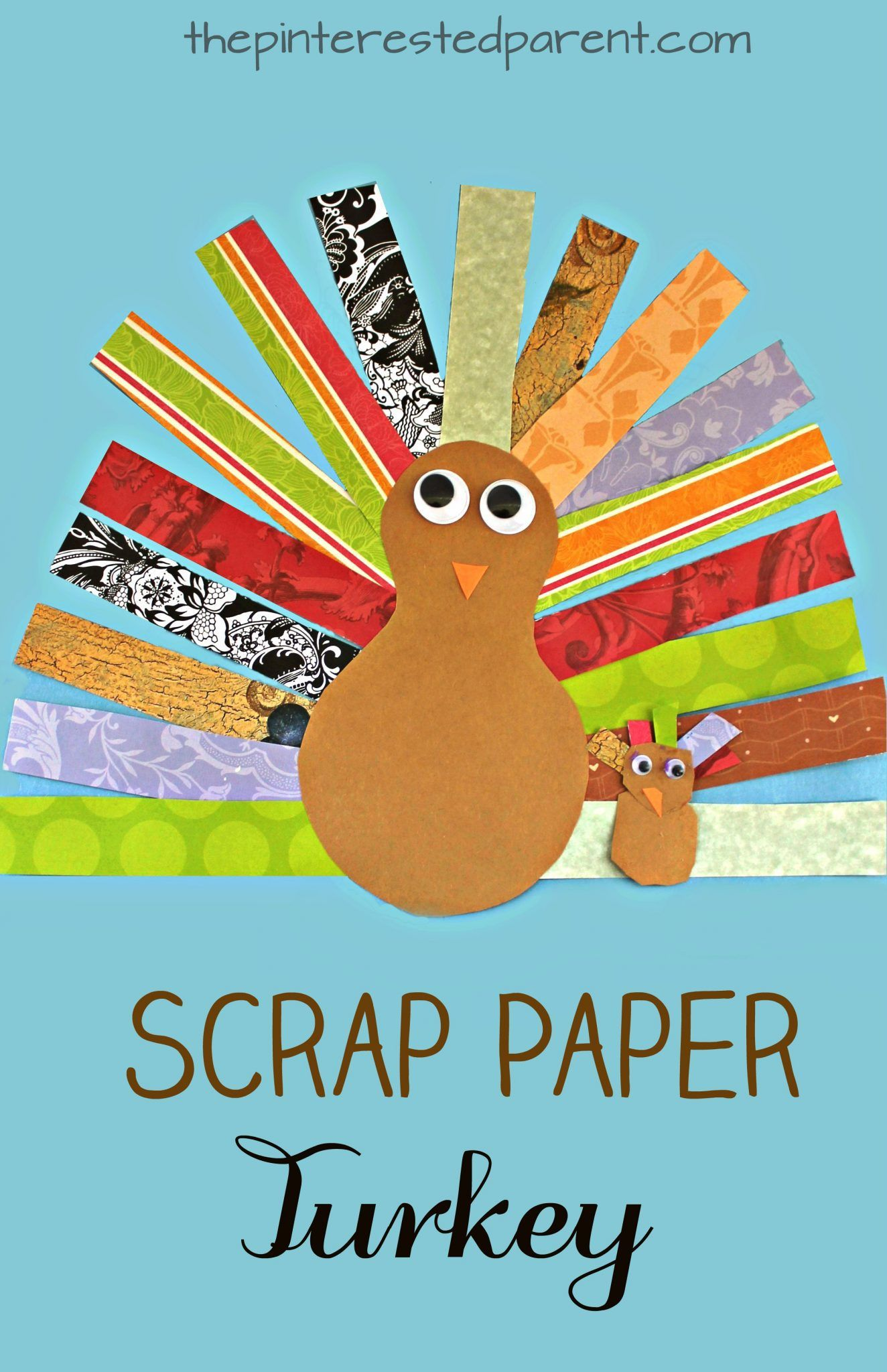Scrap Paper Turkey Craft for Thanksgiving | The Pinterested Parent ...