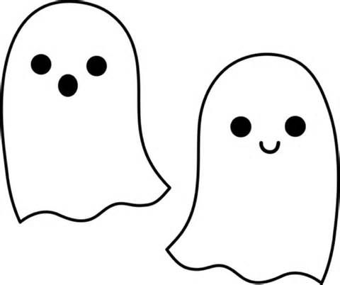 Cute Ghost Coloring Pages Halloween Applique Halloween Coloring