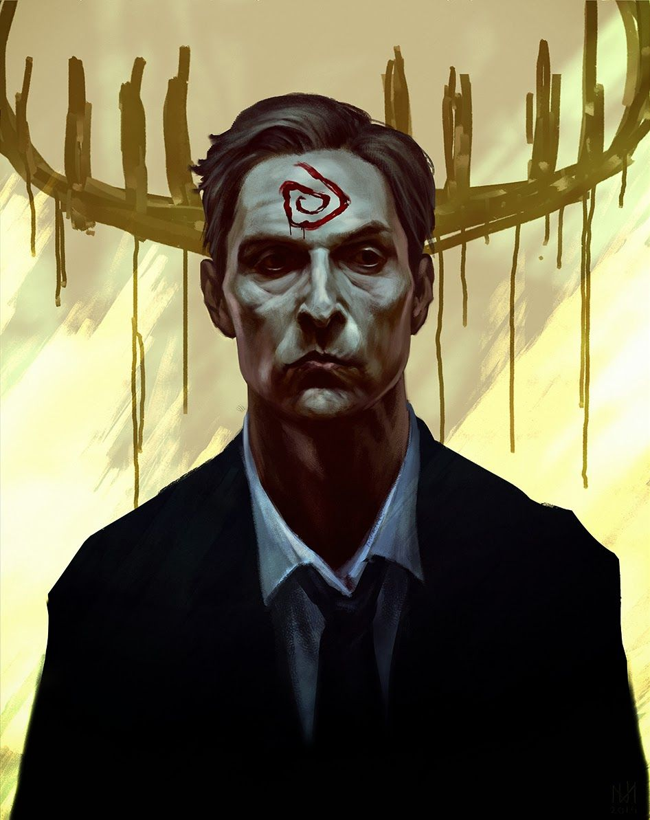 the geeky nerfherder cool art true detective rust by nagy