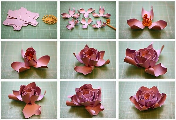 Bits of paper 3d paper flower day four create flowers paper bits of paper 3d paper flower day four mightylinksfo