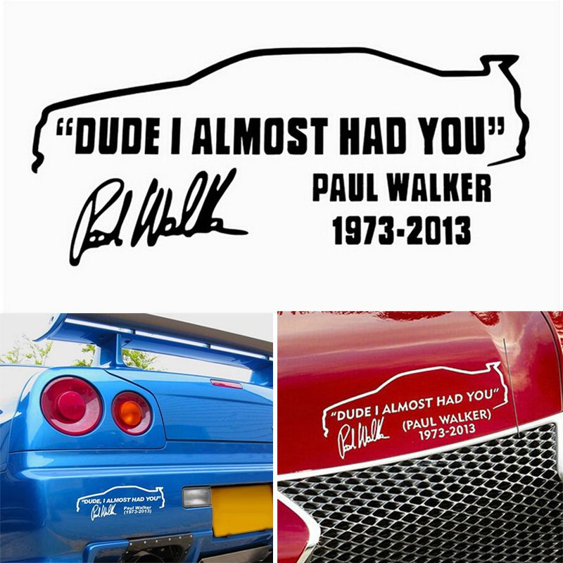 News New Xmm Words Tail Car Sticker DUDE I ALMOST HAD YOU - Custom vinyl decals for car interior