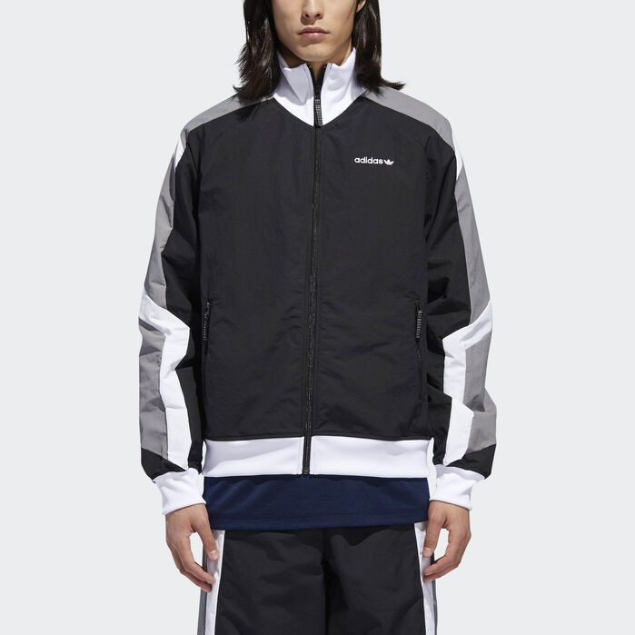EQT Block Windbreaker Jacket Black 2XL Mens | Jackets