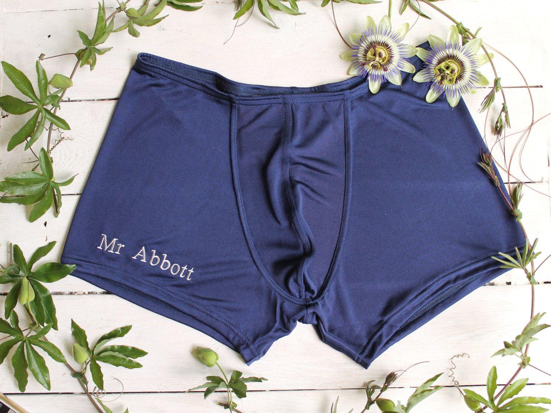 Personalised Boxer Shorts Silk Boxer Shorts Personalised Groom