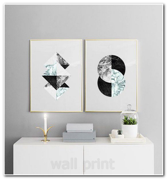 Simple Wall Art Black And White Flower Canvas Small Wall Posters